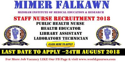 Staff Nurse Vacancy in MIMER Falkawn August 2018