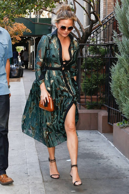 Chrissy Teigen – Out and about in New York City