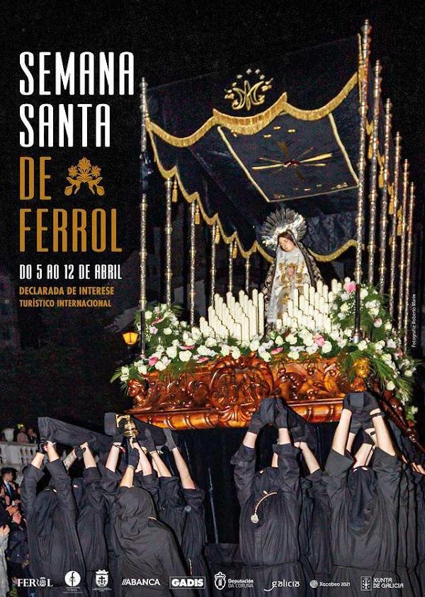Programa con Horarios e Itinerarios Semana Santa de Ferrol (La Coruña) 2020