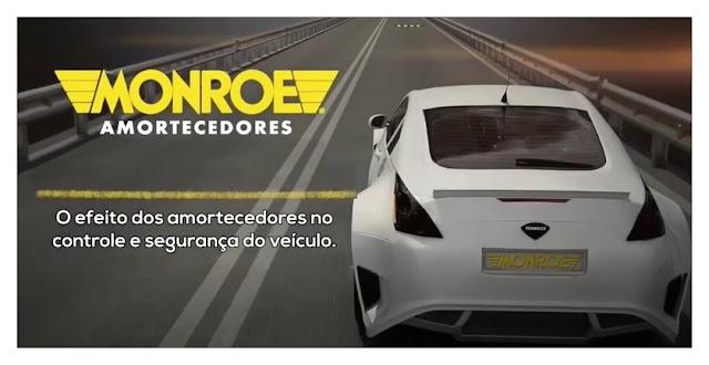 Monroe apresenta simulações de dirigibilidade, comparando amortecedores desgastados com equipamentos novos
