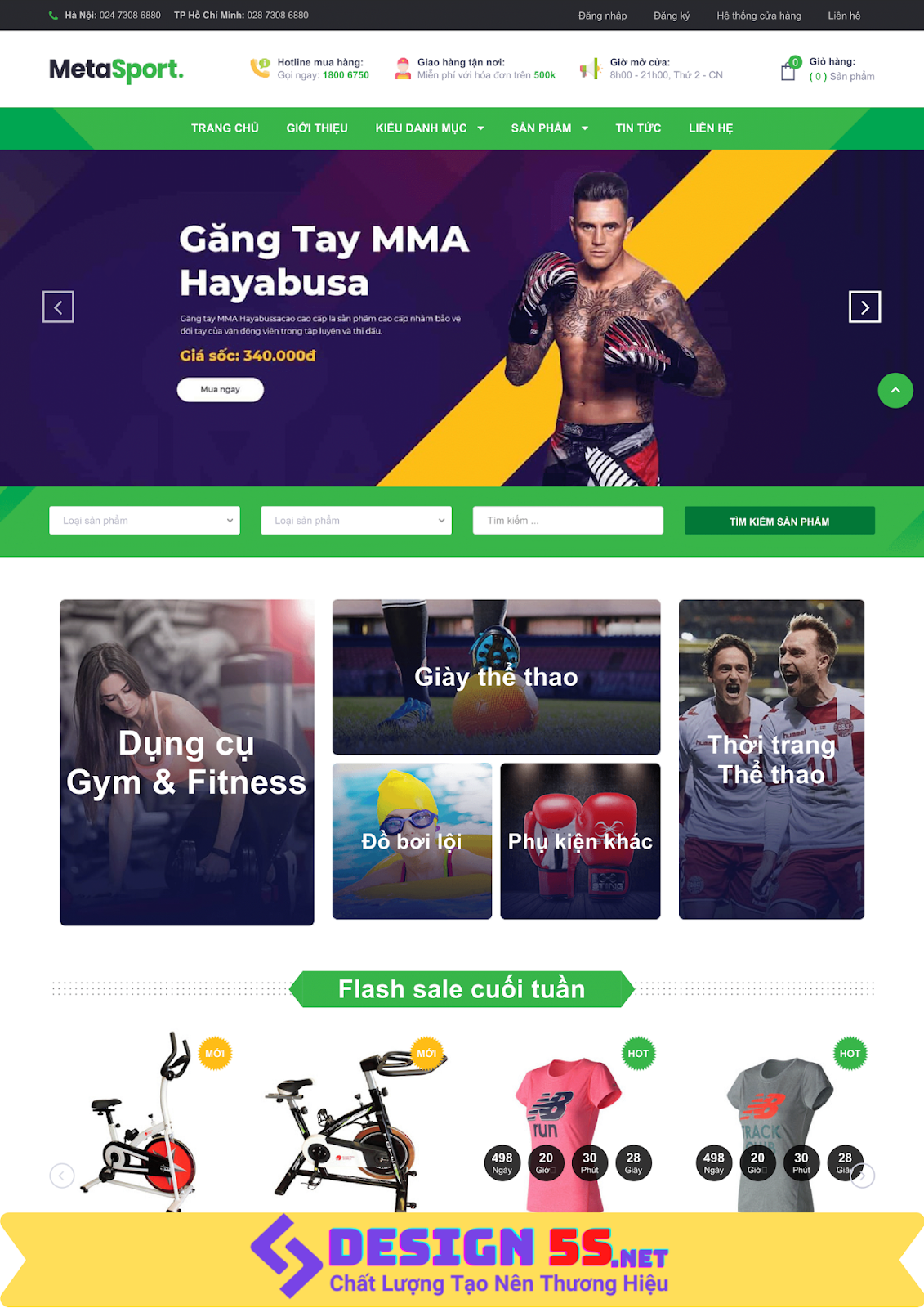 Template blogspot bán hàng dụng cụ phụ kiện thể thao VSM24