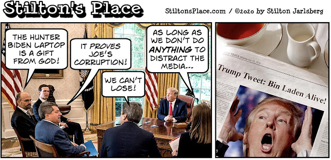 stilton's place, stilton, political, humor, conservative, cartoons, jokes, hope n' change, trump, tweet, election, bin laden