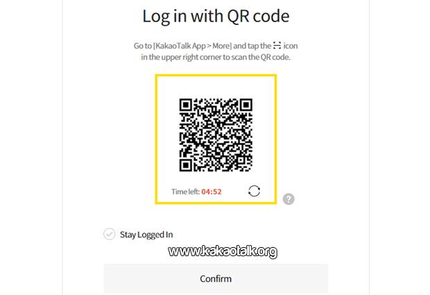 Iniciar sesion usando el Codigo QR en Kakao Talk