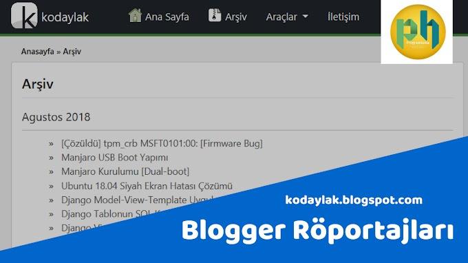 Blogger röportajları: kodaylak.blogspot.com
