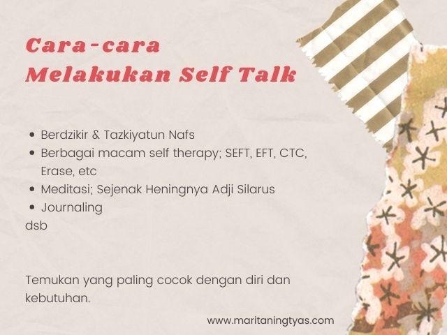 cara melakukan self talk