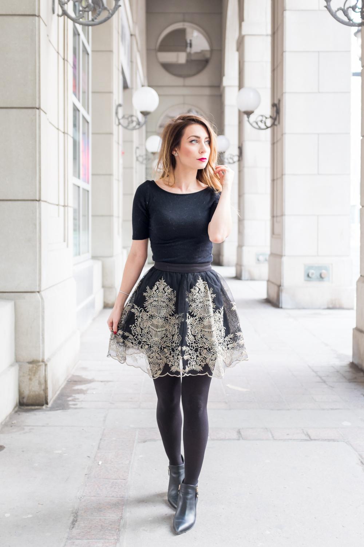 ootd black tulle skirt la petite noob a toronto. Black Bedroom Furniture Sets. Home Design Ideas