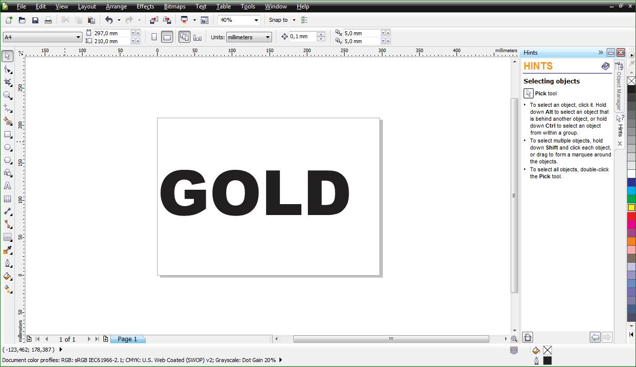 Thunder Knight Cara Membuat Tulisan Gold Di Corel Draw