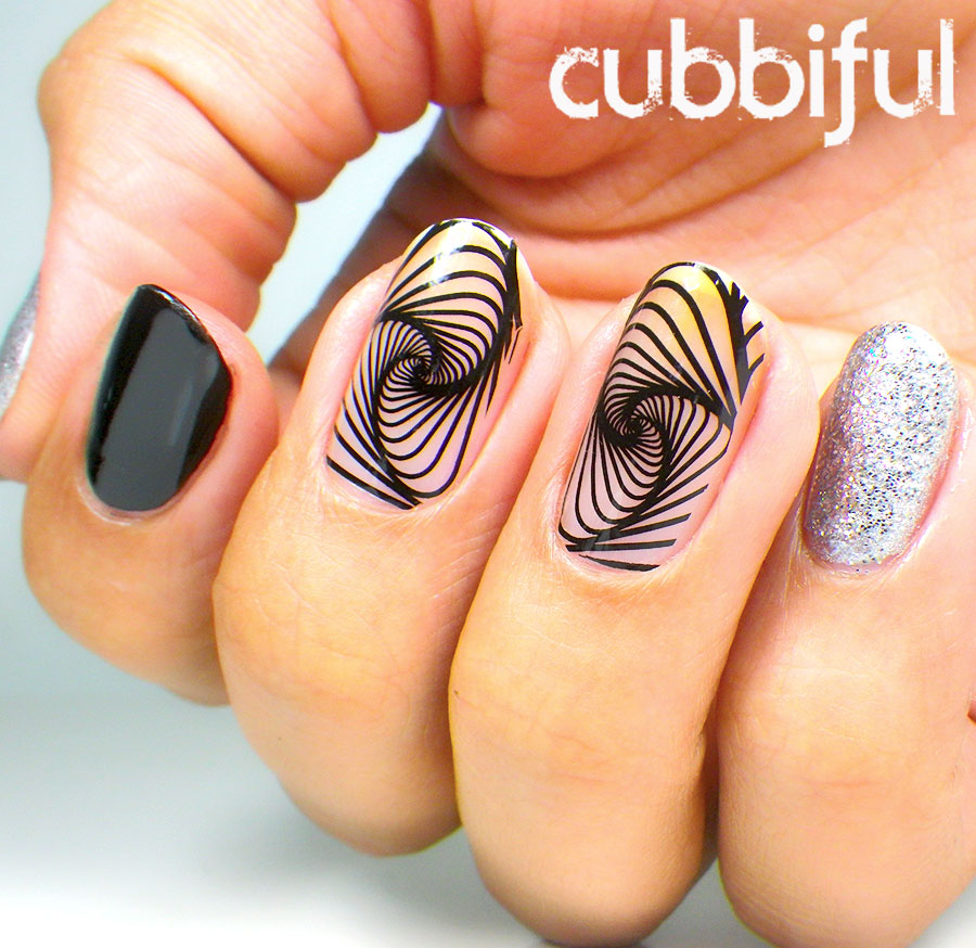 Negative Space Swirls Nails