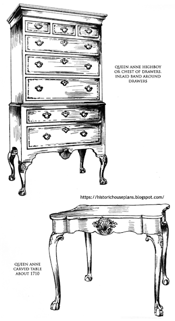 Historic house plans for Queen anne furniture plans