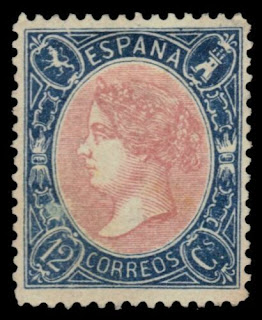 "SPAIN 76 (Mi69) - Queen Isabella II ""1865 Printing"""
