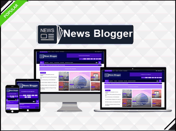 News Blogger - Professional & Magazine Template