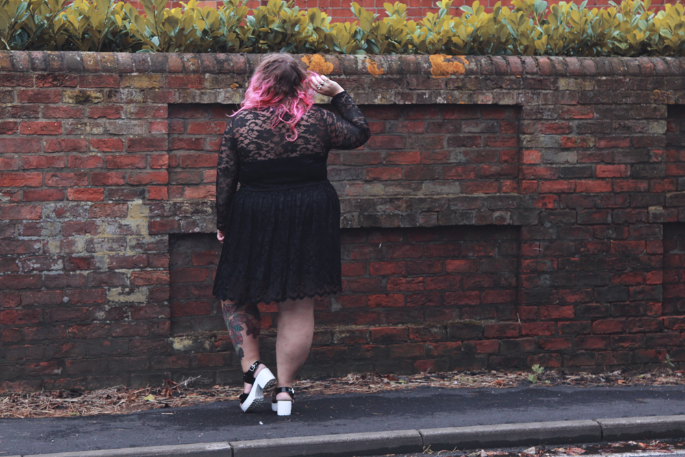 d40ac5f3b70 I ended up coming away with the Hannah Black Lace Skater Dress  to review