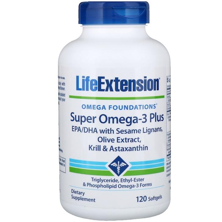 Life Extension, Omega Foundations, Супер омега-3 плюс, 120 мягких желатиновых капсул