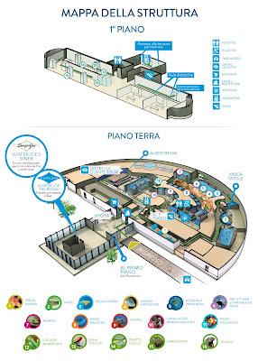 Mappa Acquario di Livorno 2017