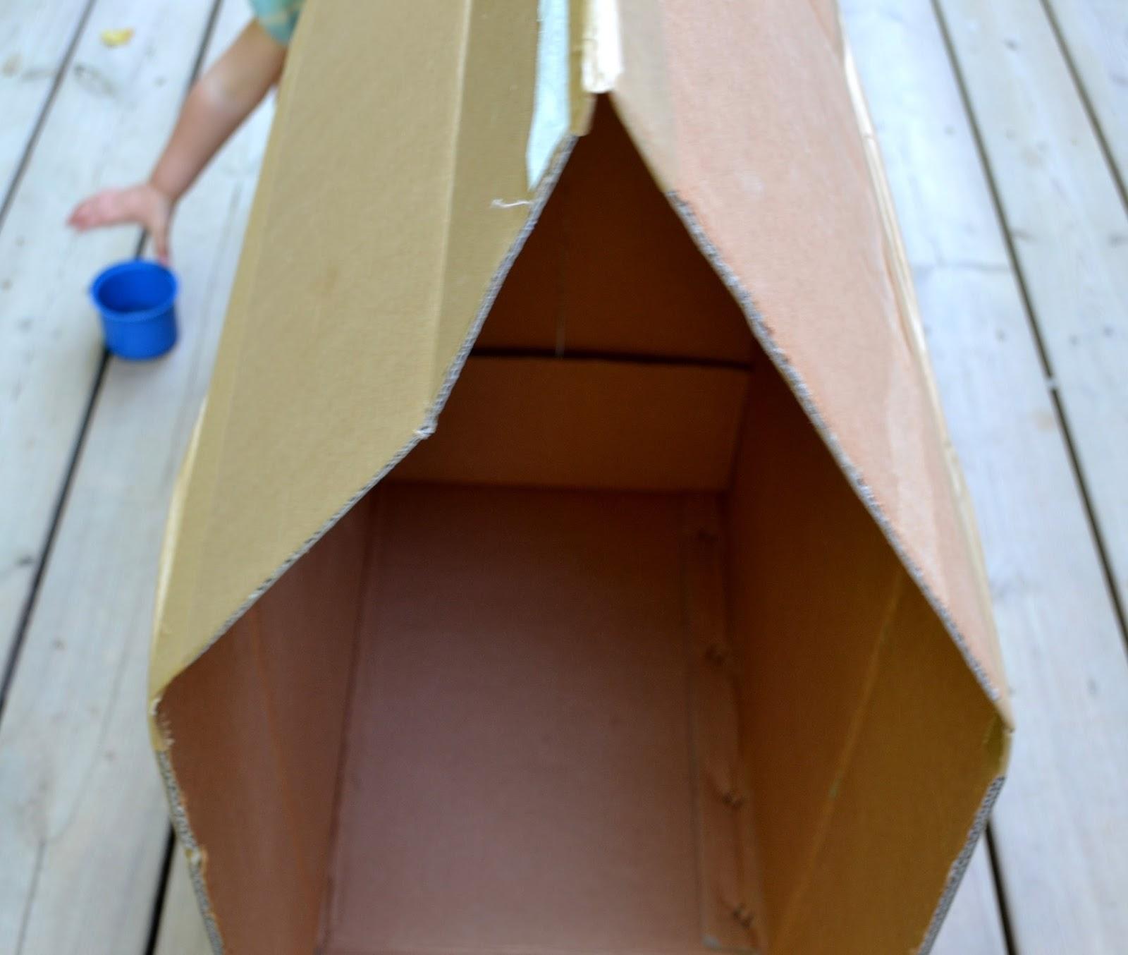 Cabane En Carton Diy état de nature: tuto pour enfants: la cabane en carton.