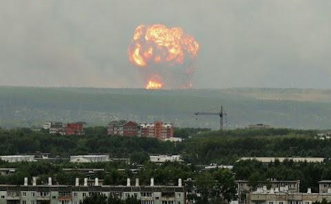 Felrobbant egy rakétahajtómű egy észak-oroszországi katonai lőtéren