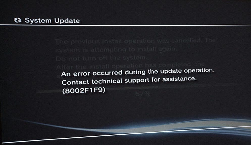 Error Code PS3