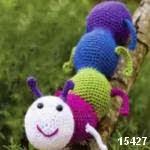 patron gratis gusano amigurumi, free pattern amigurumi worm