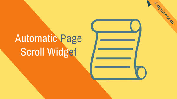 Automatic Page Scroll Widget