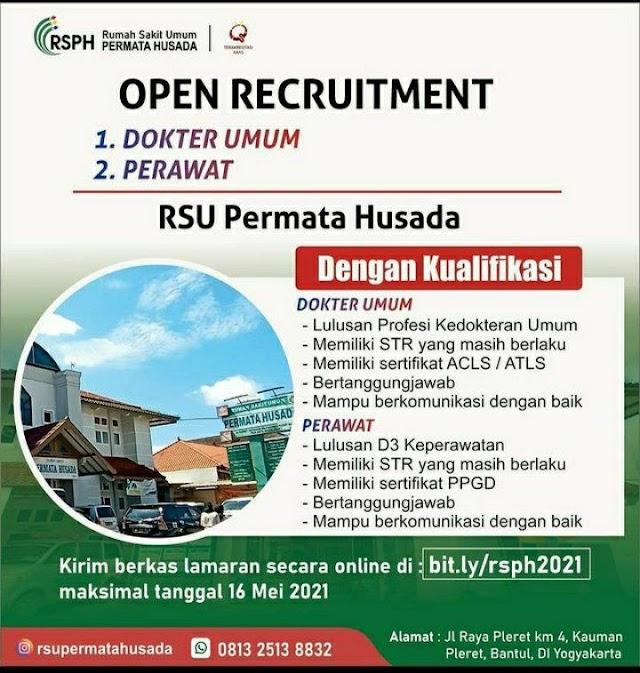 Loker Dokter Umum RSU Permata Husada DI. Yogyakarta
