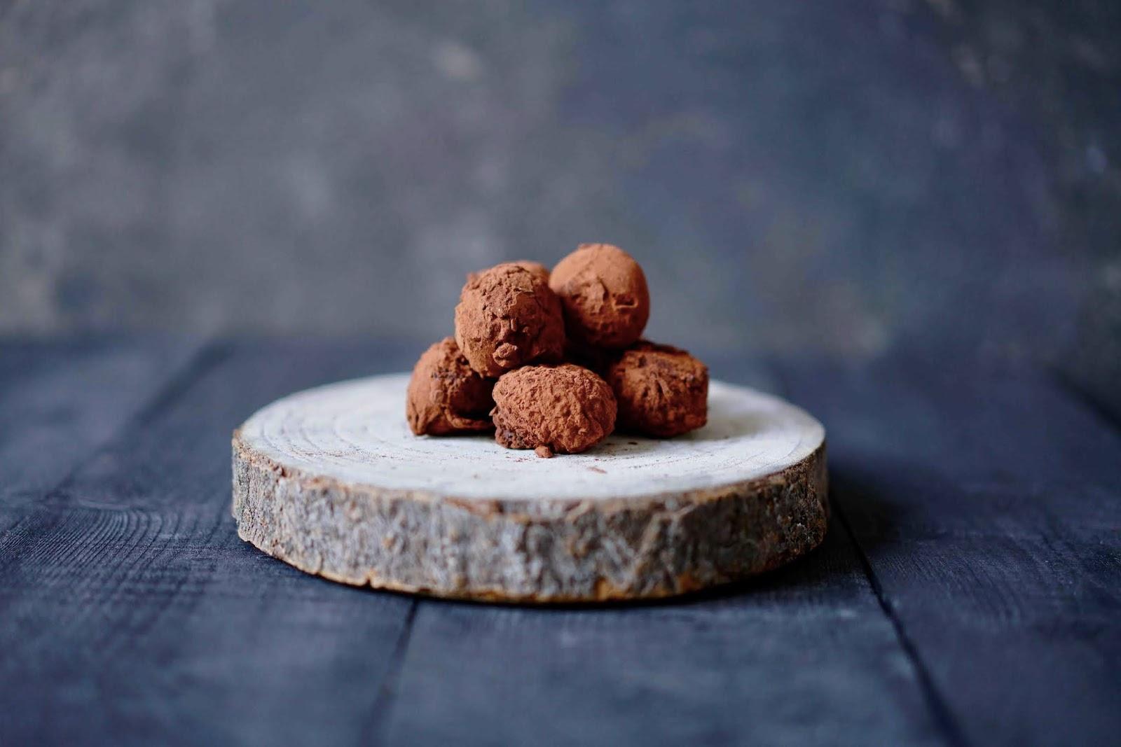chocolat blond Dulcey , truffes chocolat noir , recettes de NoËl