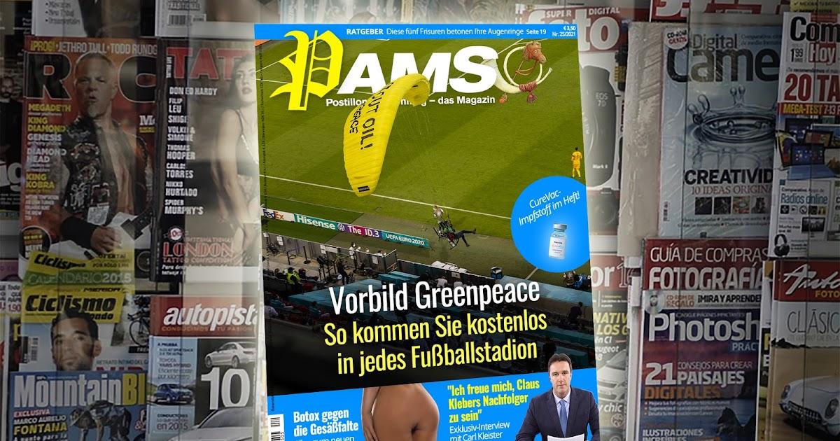 Heute in PamS: Vorbild Greenpeace – So kommen Sie kostenlos in jedes Fußballstadion