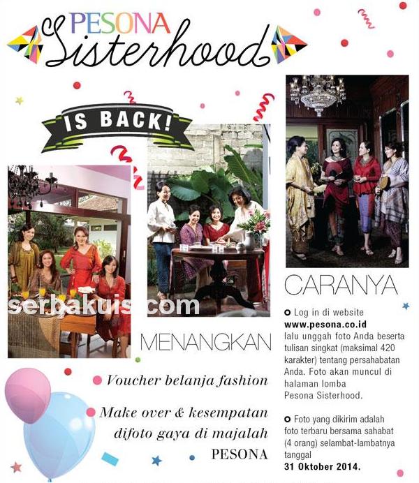 Kontes Pesona Sisterhood Berhadiah Voucher Belanja Fashion