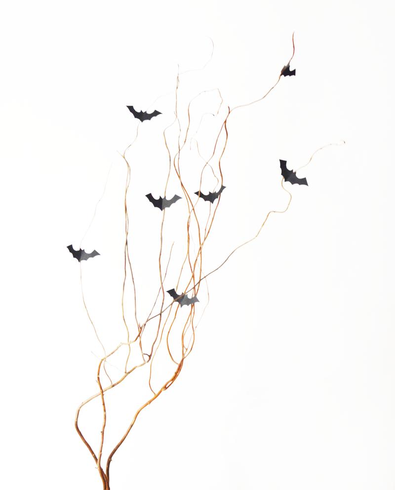 DIY Halloween bat chauve-souris papier paper déco ambiance