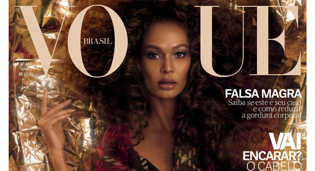 1dab52aafc097 Joan Smalls na edição de junho da Vogue Brasil