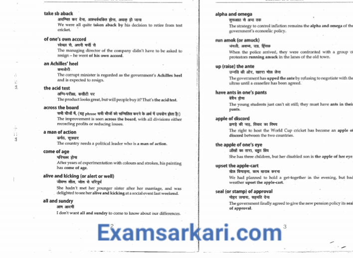 Download Important Idioms And Phrases With Hindi Meaning In Pdf