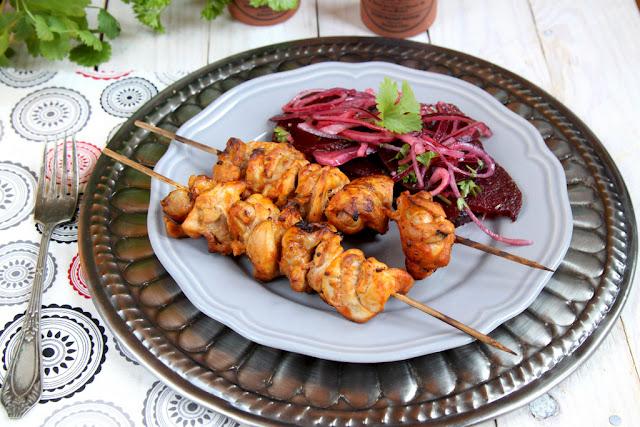 Kebab z kurczaka - Shish Taouk