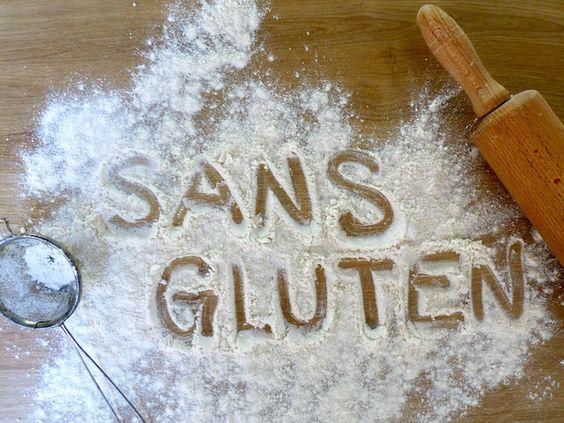 sans gluten farine inscription typo texte gluten free