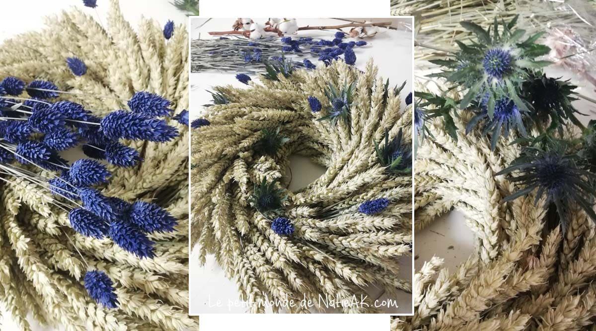 conseil pour réaliser une couronne de fleurs séchées