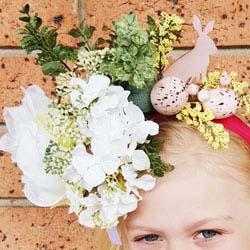 cheap easy flower easter hat DIY tutorial