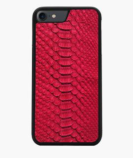 Piel de serpiente, rojo, carcasas, carcasa, exclusivo, exclusivos