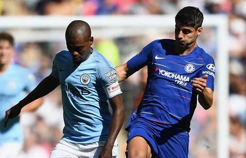 Morata gây thất vọng trong trận đấu Chelsea thua Man City 0-2