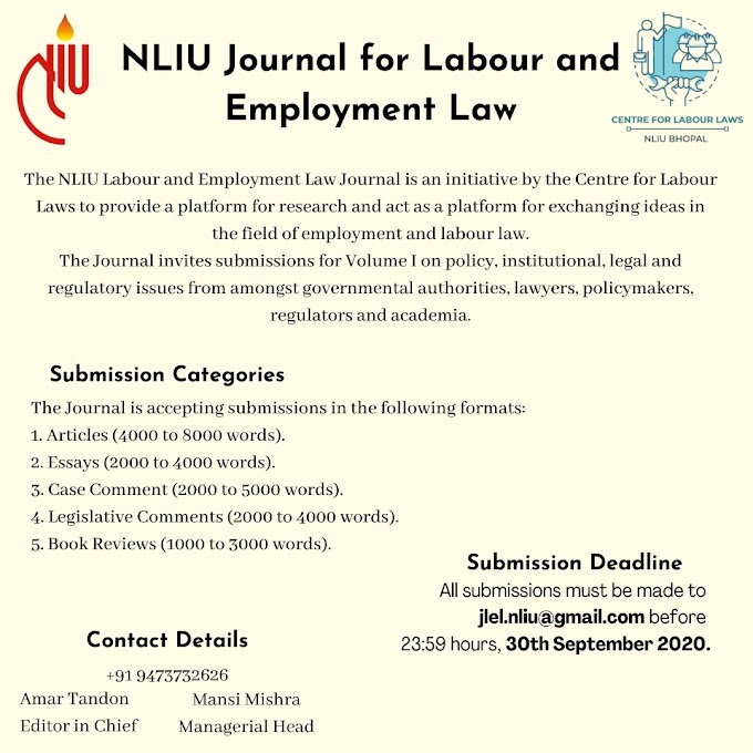 NLIU Journal for Labour and Employment Law