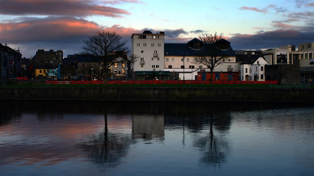 Reflections at Claddagh quay, Galway