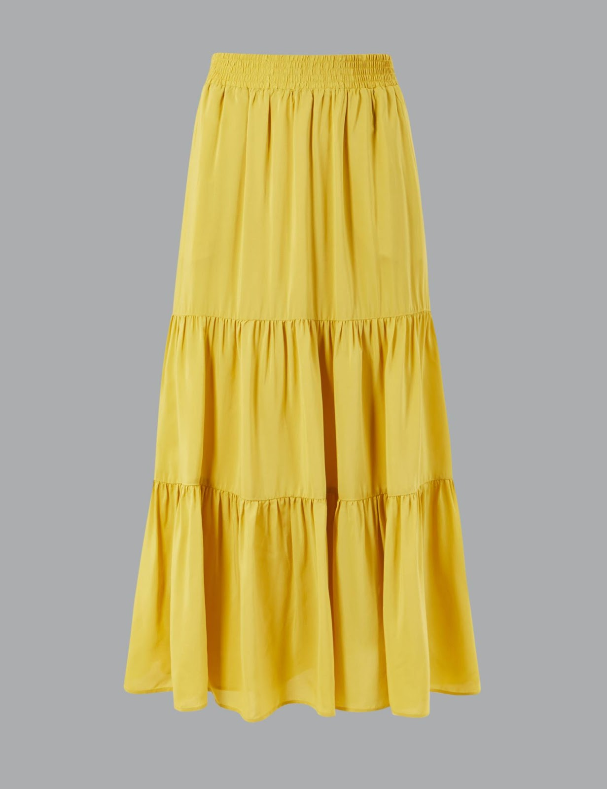 marks and Spencer gathered tiered maxi skirt