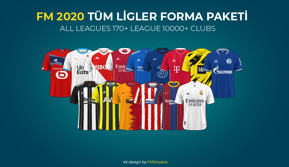 fm 2020 tüm liglerin forma paketi indir