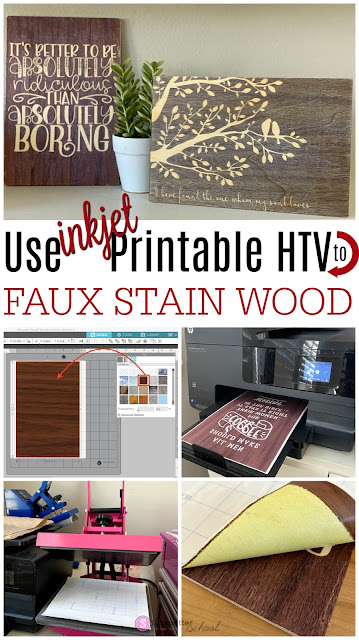 silhouette 101, silhouette america blog, print and cut, inkjet printable htv, faux stain