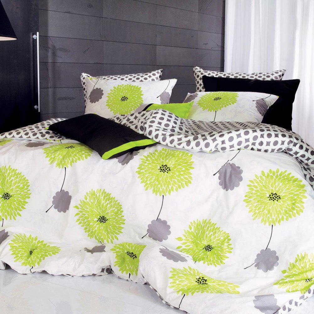 Total Fab: Lime Green and Grey Bedding Sets