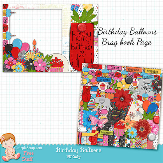 Birthday Balloons Brag Book Page + $2 Tuesday