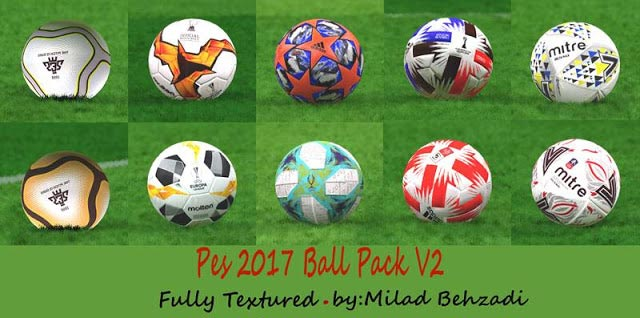 New Ballpack 2019-2020 Fully Textured V2 For PES 2017