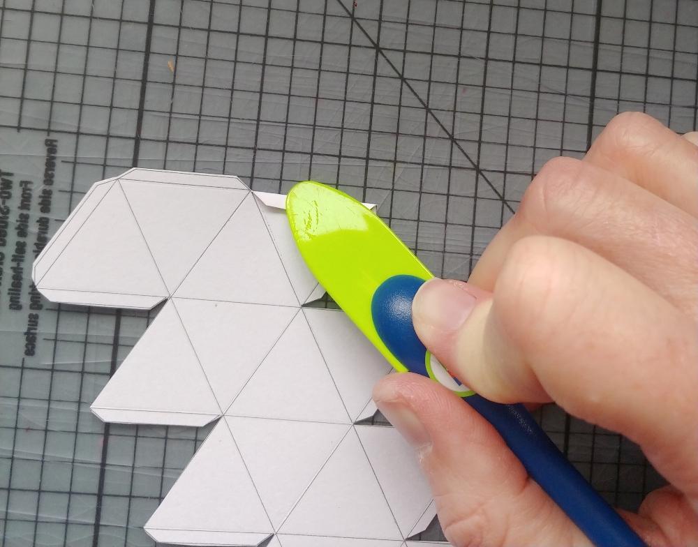 crease each fold line