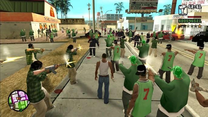 Principais Senhas de GTA San Andreas (PS2)