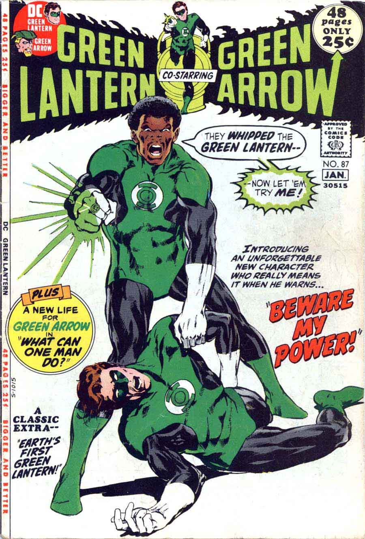 Green Lantern Green Arrow #87 dc comic book cover art by Neal Adams