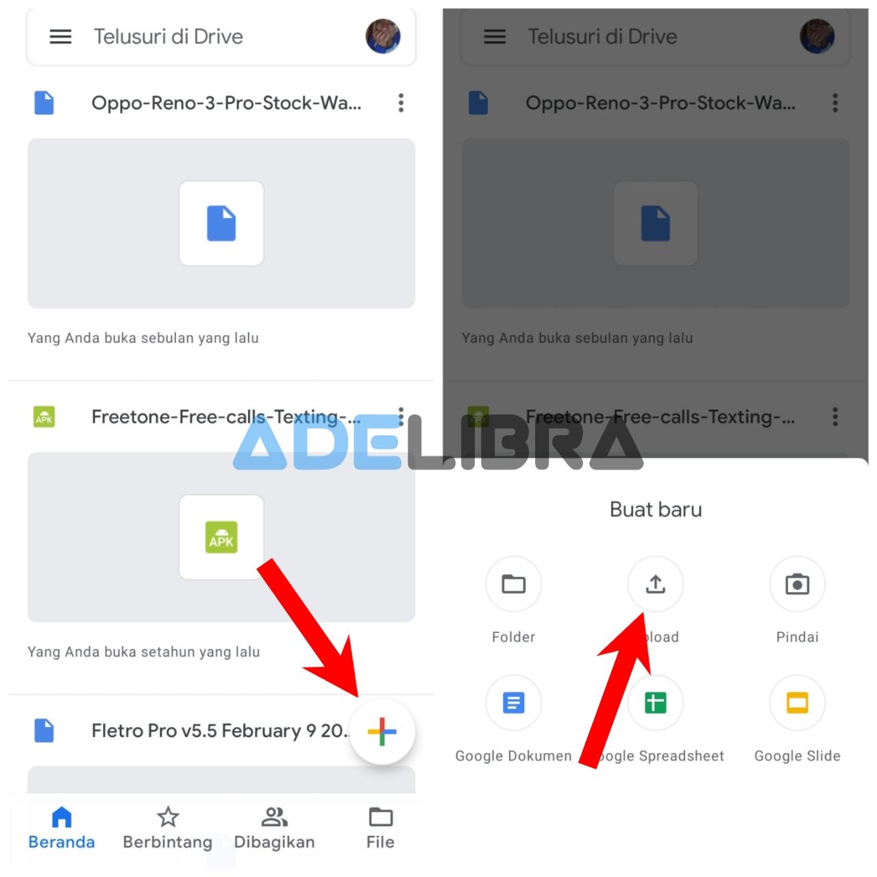 Upload file di Google Drive