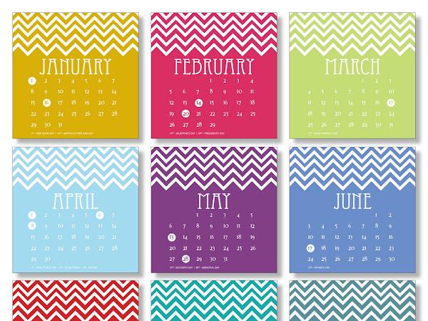 { 2012 Calendar }