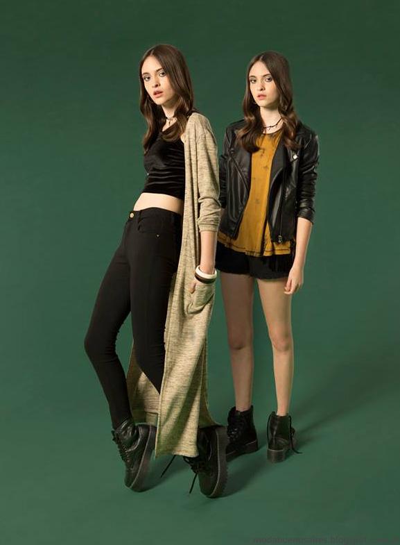 Muaa otoño invierno 2016 colección pantalones, sacos largos, remeras. Moda otoño invierno 2016.